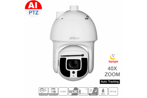Dahua 8MP 40x Starlight 4K IR PTZ AI Motorized Camera, 5.6mm~223mm Lens - CCTVMasters.com.au