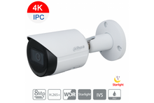 Load image into Gallery viewer, Dahua 8MP Camera, (4K) Starlight IP Bullet Fixed Lens PoE - CCTVMasters.com.au
