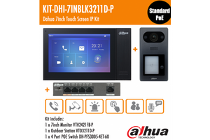 KIT-DHI-7INBLK3211D-P Dahua 7inch Touch Screen IP Intercom Kit