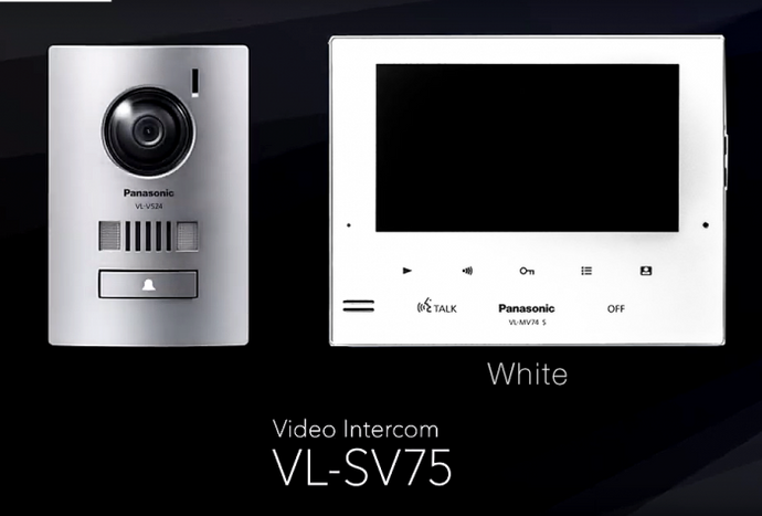 Panasonic VL-SV75AZ-W Video Intercom System White Monitor