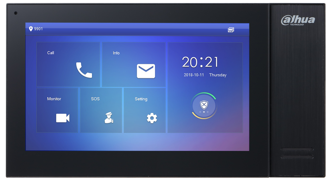 Dahua DHI-VTH2421FB-P 7inch Touch Screen IP Indoor Black Monitor - CCTVMasters.com.au