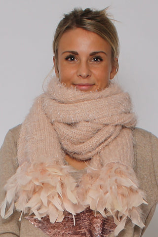 Soft Feather Scarf Rosa