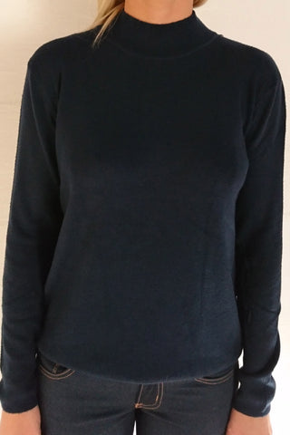 PAO High Neck Sweater - Marine