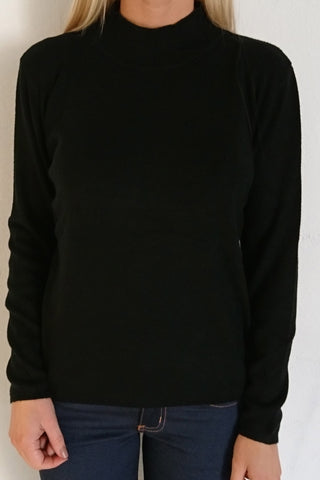 PAO High Neck Sweater - Black
