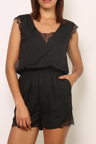JENNAH Playsuit - Sort