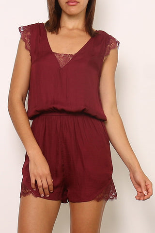 JENNAH Playsuit - Wine
