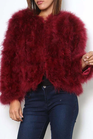 Ostrich Jacket - Bordeaux