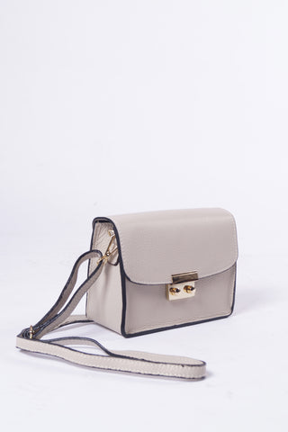 LARA Leather Bag - Nude