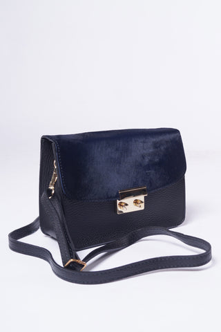 LARA Leather Bag - Sort/Midnat