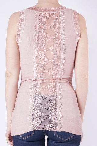 MELINA Lace Top - Rosa