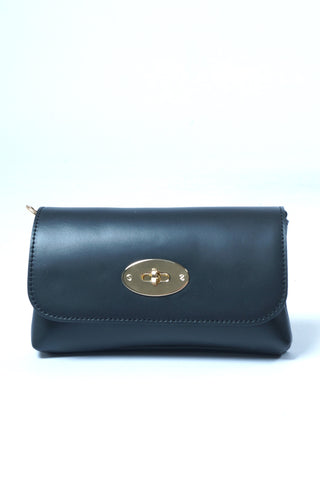 Mini Leather Bag - Sort