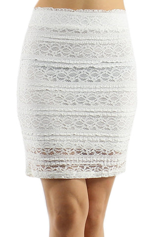 Sweet Lace Skirt - Hvid