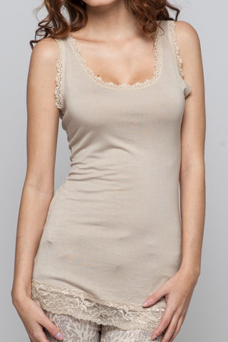 Basic Lace Top - Creme