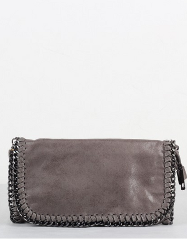 Chain Shoulder Bag - Grå
