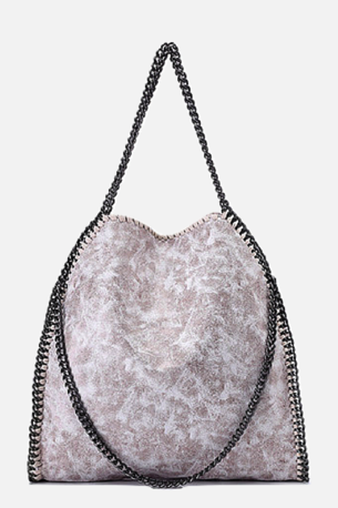Double Chain Shoulderbag - Creme
