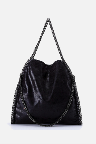 Double Chain Sholderbag - Black
