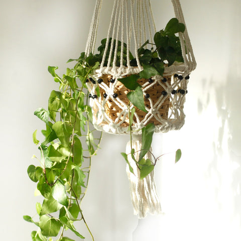 Small Macrame Pot Holder