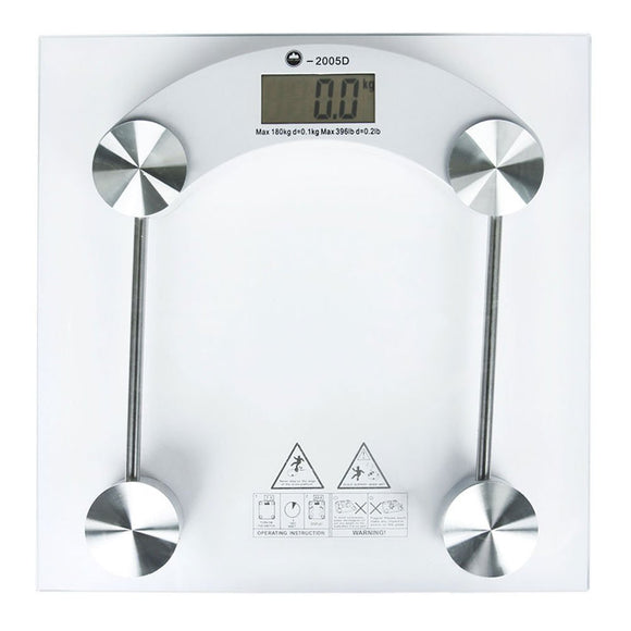 Home > Bathroom > Bathroom Scales > 180KG Digital Bathroom Scales - Glass