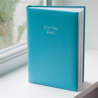 Office & Stationery > Diaries & Books > Diary > Large Aqua 5 Year Diary