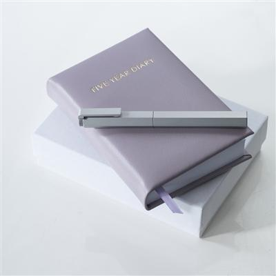 Office & Stationery > Diaries & Books > Diary > Lilac & Gold 5 Year Diary