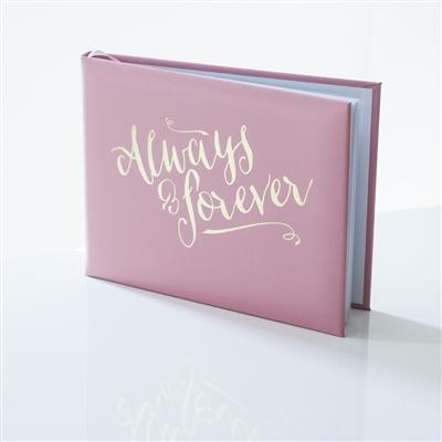 Office & Stationery > Diaries & Books > Guest book > Pink Always & Forever Guest Book