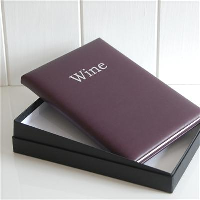 Gifts for Her > Office & Stationery > Diaries & Books > Wine record book > Aubergine Wine Record Book