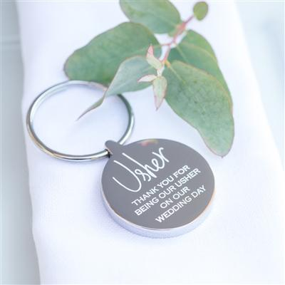 Usher Wedding Keyring