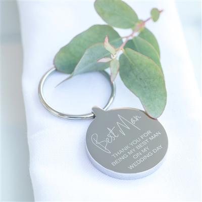 Best Man Wedding Keyring