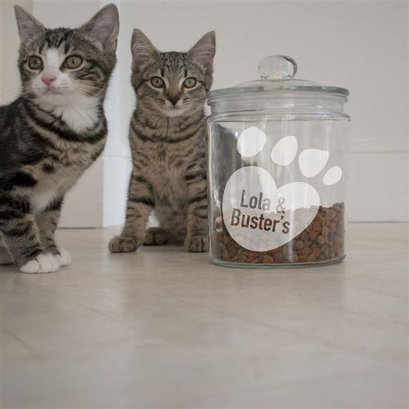 Paws Personalised Cat Treat Jar - Small