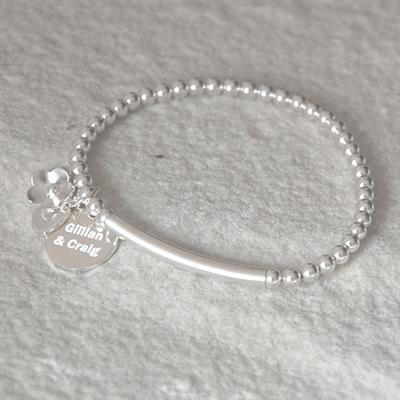 Personalised Sterling Silver Bracelet