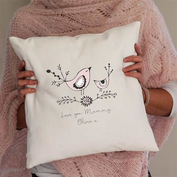 Gifts for Mum > Home > Seating > Cushions > Personalised Mummy Bird Cushion