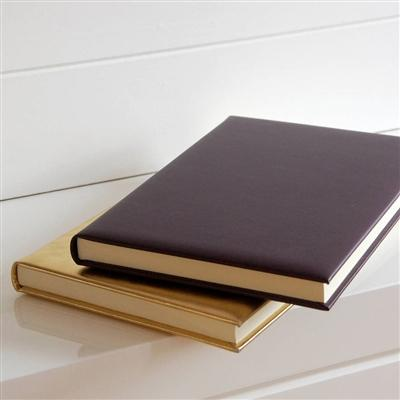 A4 Aubergine Leather Journal - Lined