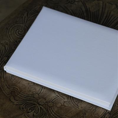 Office & Stationery > Diaries & Books > Guest book > Small White Linen Guest Book