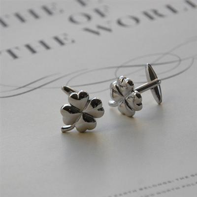 Good Luck Clover Cufflinks