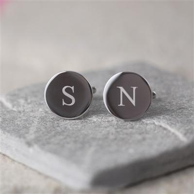 Mens Fashion > Mens Accessories > Cufflinks > Circular Initial Cufflinks