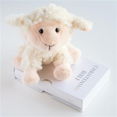 Lamb & Bible Christening Set