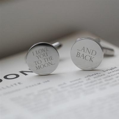 Moon & Back Silver Cufflinks