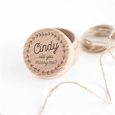 Personalised 'Marry Me' Ring Box