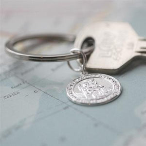 Sterling St Christopher Keyring