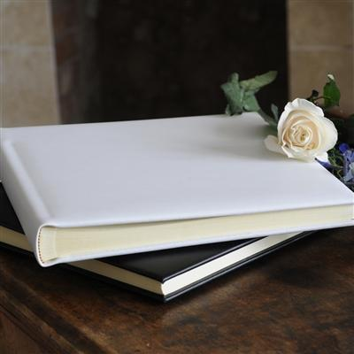 30 Page Leather Ivory Album
