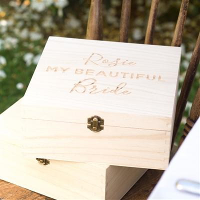 Personalised 'My Beautiful Bride' Gift Box