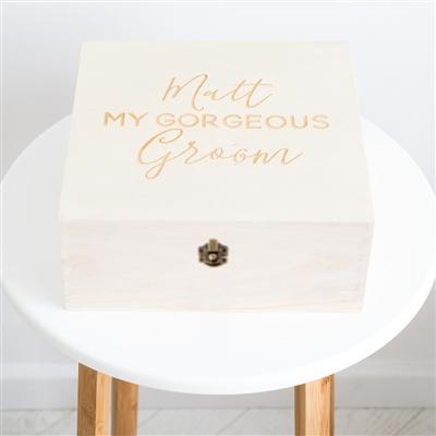 Personalised My Gorgeous Groom Box