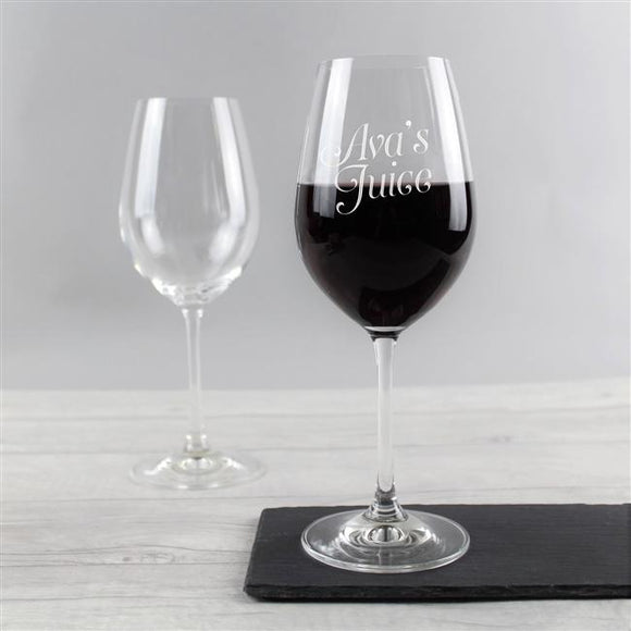 Gifts for Her > Kitchen > Glassware > Wine Glass > Personalised 'Juice' Wine Glass