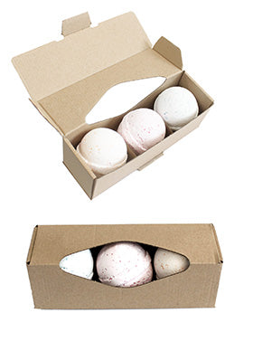 Health & Beauty > Bath > Bath Bombs > Set of Three Bath Bombs with Bath Salts