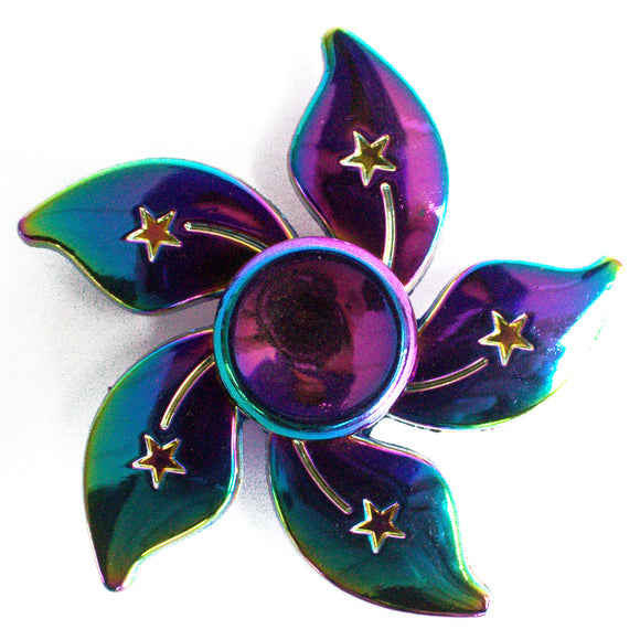 Gifts > Gifts for Children > Metal Fidget Spinner - Flower Stars - Rainbow