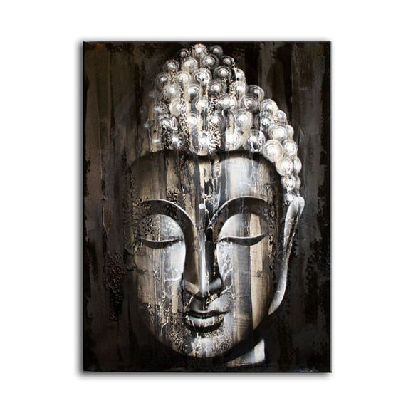Gifts > Gifts For Her > Wood Buddha Silver - Painting