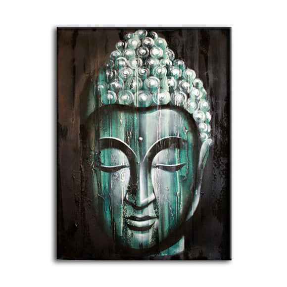 Gifts > Gifts For Her > Wood Buddha Green  - Painting
