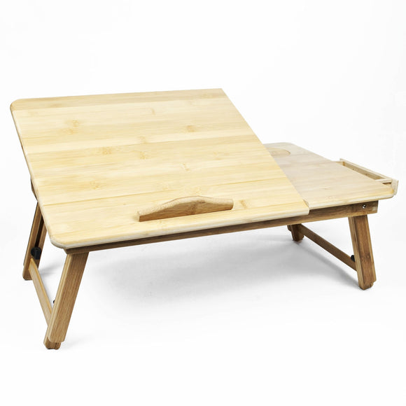 Bamboo Laptop Table Stand