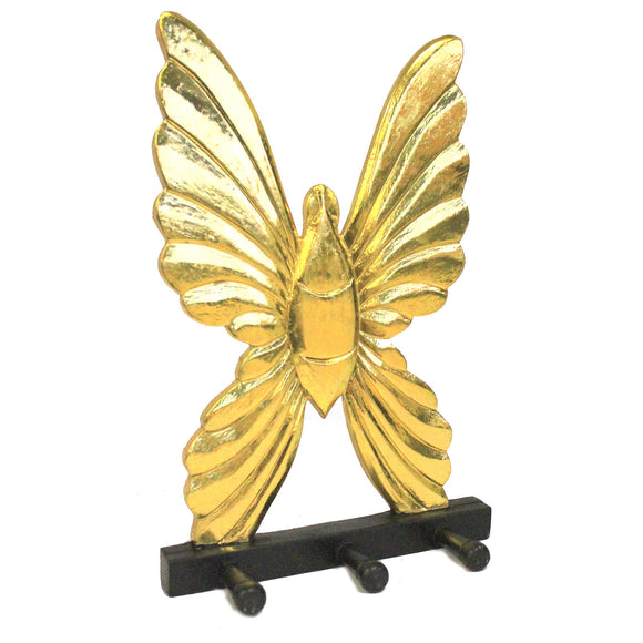 Home > Home > Home Misc. > Wooden Coat Hanger - Butterfly Gold