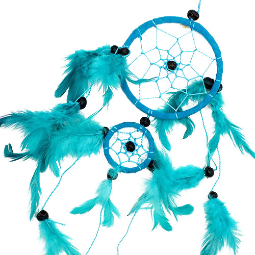 Home > Bedroom > Dream Catchers > 6x Bali Dreamcatchers - Medium Round - Turq/Pink/Purp